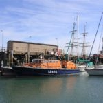 The Fraser Lifeboat in Gosport, UK alongside HMS Dolphin